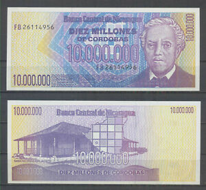 Nicaragua 10 Million Cordobas 1990 P. 191  UNC