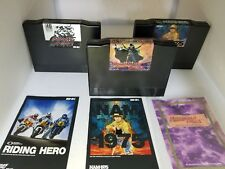 3 Neo Geo AES Games With manuals Nam 1975 75, Riding Hero & Magician Lord M20