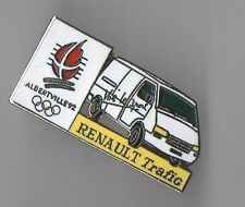 pin's Renault trafic / Jeux Olympiques Albertville 92 (double attache)