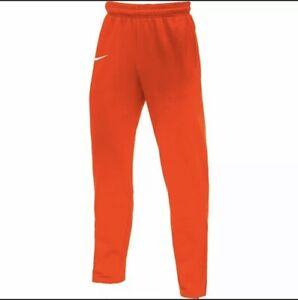 Nike DRI-FIT Therma Athletic Sweatpants Clemson Orange BQ6969-820 Men's Size M