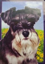 "Premier Designs ""Wendell the Schnauzer"" decorative 12 x 18 garden size dog flag"