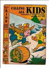 CALLING ALL KIDS #7  [1947 GD-VG]  ICE SKATING COVER!