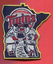 Minnesota Twins Shaking Hands Embroidered Patch in shape of State