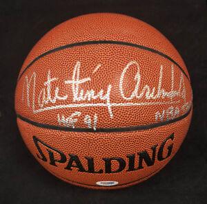 Nate Tiny Archibald SIGNED I/O Basketball + HOF 91 Celtics PSA/DNA AUTOGRAPHED