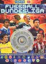 Topps Bundesliga 2010/11 aus Liste 20 Sticker aussuchen aus fast allen
