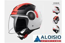 CASCO LS2 OF562 AIRFLOW CONDOR WHITE BLACK RED TG.M **Spedizione Inclusa!!**