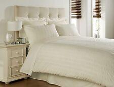SEERSUCKER CREAM KING BED SIZE 300 Thread Count Egyptian Cotton Duvet Cover Set