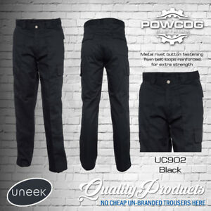 "Uneek UC902 Mens Work Cargo Combat Workwear Black Navy Trousers Sizes 28"" - 52"""
