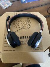 Jabra Evolve 65 On the Ear Bluetooth Wireless Headset - Black Barely Used