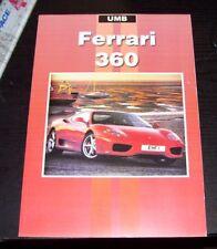 FERRARI 360 ROAD TEST & ARTICLE REPRINT BOOK UMB DAMAGED COVER & PAGE