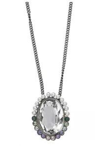 Swarovski ® Calista 5118133 Crystal Pendant Palladium Long Adjustable Necklace