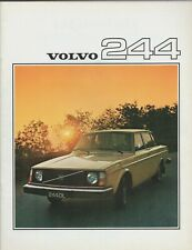 Volvo 244 Saloon 1975-76 UK Market Sales Brochure DL GL 240-Series
