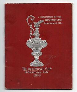 1899 The America's Cup Souvenir Booklet