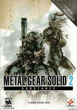 Metal Gear Solid Substance 2 PC DVD tactical espionage action shooter bomb game