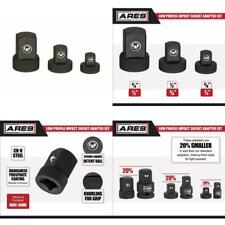 Ares 70198   Low Profile Impact Socket Adapter Set   Impact Rated Heat-Treated C