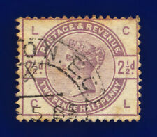 1884 SG190 2½d Lilac K20 CL London Good Used Cat £20 cjvi