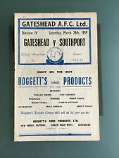 More details for gateshead v southport 28th march 1959 division four