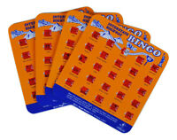 Regal Games Original Travel Bingo Pack of Four Orange Interstate For Roadtrips