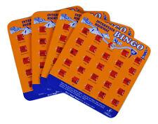 Regal Games Original Travel Bingo Pack of Four Orange Interstate For Roadtrips