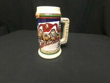 1998 Budweiser Holiday Stein Cs343 Clydesdale Hitch at Grant's Farm With Cert
