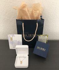 "NIB Na Hoku Hawaii 14k Gold Slipper Flip-Flop Sandal Necklace - 17"" Necklace"