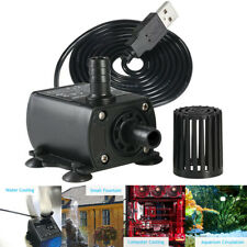 USB Mini DC 5V 2.4W Brushless Water Pump Waterproof Submersible Aquarium 250L/H