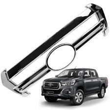 Chrome Grille Grill Cover Chrome Fits Toyota Hilux Revo Rocco 2018 2019