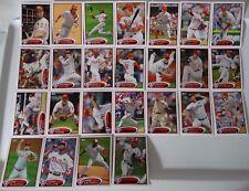 2012 Topps Series 1 & 2 Philadelphia Phillies Team Set of 25 Baseball Cards