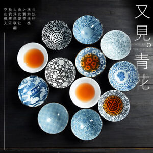 Japanese style tea cup blue-and-white porcelain tea cups kungfu cup of tea 65ml