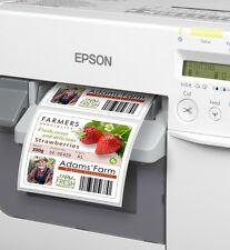 Etiketten 76mm  x 25mm GLOSSY  Epson Colorworks TM-C3400 TM-C3500
