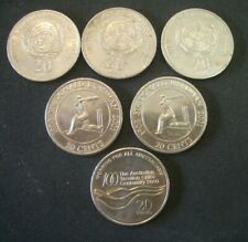 Australian 20 cents coins (6)  ; Sell for Charity