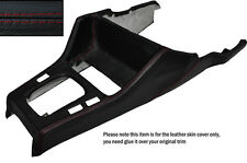 RED STITCH GEAR SURROUND LEATHER SKIN COVER FITS BMW 3 SERIES E30 84-91