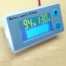 Digital Voltmeter Voltage Tester Universal LCD Car Battery Capacity Indicator