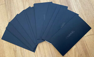 13x CHANEL BLACK SIGNATURE LOGO ENVELOPE 4.5 X 8.75 Inches Empty