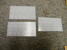 Herald King decals S Gauge Ann Arbor Wabash hopper car white - 3 sheets Xx221