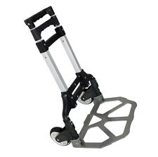 176 lbs Folding Luggage Cart Dolly Rubber Wheels Hand Push Trolley Travel New