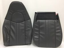 2003-2009 CHEVY GMC C SERIES VINYL SEAT COVER DRIVER  BOTTOM AND BACK.DK GRAY