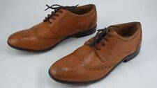 H By Hudson Tan Real leather Brogues Oxford Shoes Lace Up UK 6 EU 39 Formal