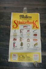 "Vintage 1969 Maders Schnitzelbank Original Restaurant SONG Poster 28.5"" x 17"""