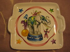 "Villeroy & Boch Le Cirque Luxembourg Elephant Cake Plate W/ Handle, 9"" Dia"