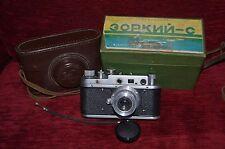 Copia Leica Russo (FED? Zorki?) Camera & Case in scatola con istruzioni