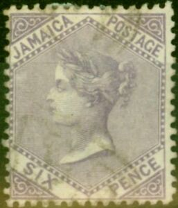Jamaica 1860 6d Dull Lilac SG5 Fine Used