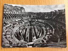 Italy Roma Interno Del Colosseo Postcard 1953 Vera Fotographia Rip Interdetta