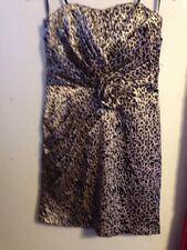 Snap strapless women leopard  dress size 9