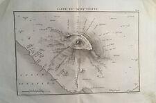 Carte du Mont Vésuve  - Ambroise Tardieu da Atlas Encyclopedique 1827  Vesuvio