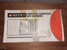 Vintage portable cassette player matsuri tr7110