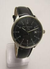 Wristwatch Black Bergmann 1956 Mens Watch Quartz Pilot Brand New