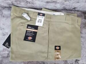 NWT Dickies 85283 Khaki Double Knee Pocket Loose Fit Twill Work Pants 48x30