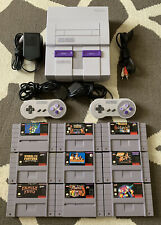 Super Nintendo SNES Console + Accessories & Game Lot - Works Great!
