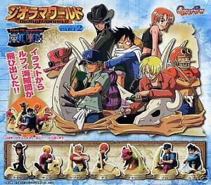 One Piece Luffy Zoro Usopp,Chopper Figure Diorama Part2